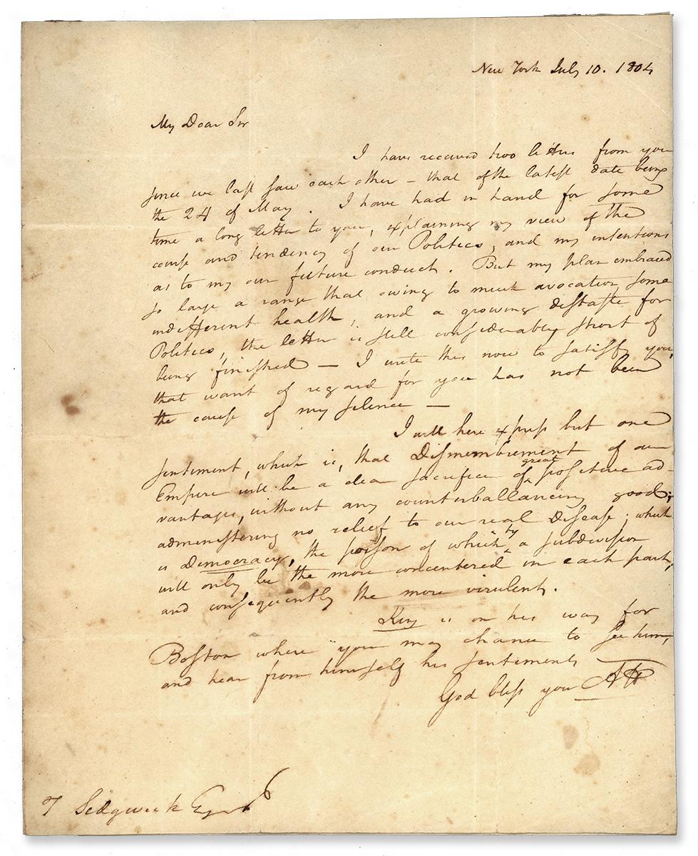 Hamlton S Letters To Laurens